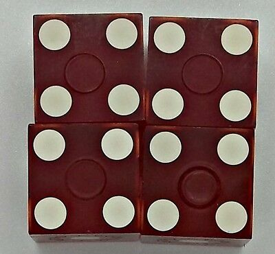 Comstock Casino Dice Reno Nevada lot of 4, all different numbers Used Cancelled 2