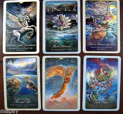 NEW Whispers of Love Oracle Cards Tarot Angela Hartfield Josephine Wall psychic 7