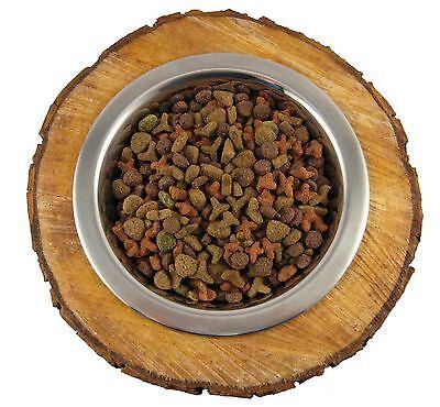 Hunde Katzen FUTTERNAPF BAUMSCHEIBE Freßnapf Trinknapf  Holz Futterbar Edelstahl 8