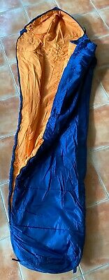 Saco De Dormir Repsol Cremallera Derecha Azul Y Naranja Nuevo 7