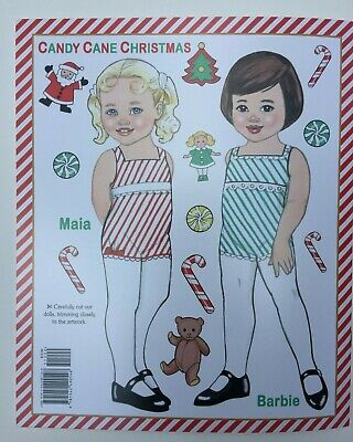 *NEW!* CANDY CANE CHRISTMAS Paper Dolls - Super cute! By Eileen Rudisill Miller 2