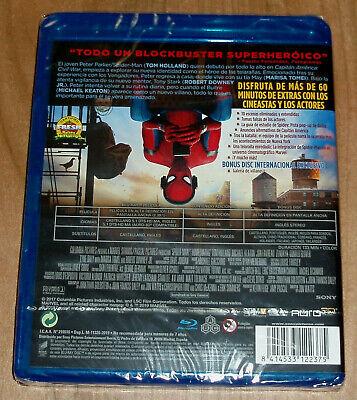 Spider-Man Homecoming Blu-Ray+Br. Extras Nuevo Precintado Accion (Sin Abrir) R2 2