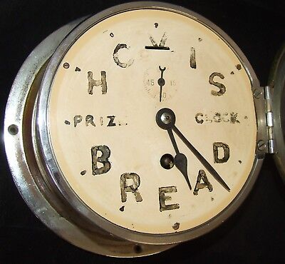 Ship Style Chrome HOVIS BREAD PRIZE CLOCK Advertising Clock BRAVINGTONS LONDON 10