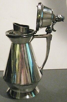 Antique Silverplated Syrup Pitcher Meriden Britannia Pat. July 1, 1873 2