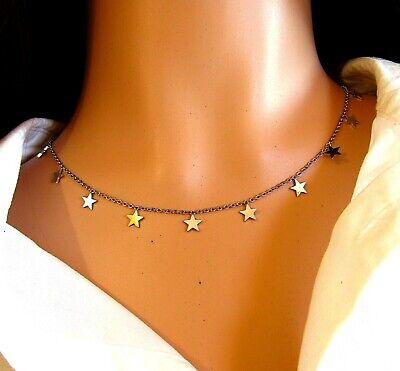 Collana donna con stelle girocollo in acciaio stelline collanina da catenina per 5