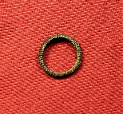 Ancient Celtic Bronze Decorated Ring 2