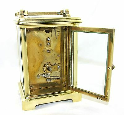 Antique Brass & Bevelled Glass Carriage Clock JAYS 142 & 144 OXFORD ST. W  (46) 9
