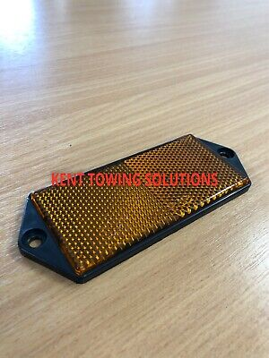 X2 New Radex Amber Orange Rectangular Trailer Caravan Car Reflector 127mm X50mm 3