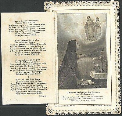 Estampa de Puntilla Canivet antigua andachtsbild santino holy card santini 2