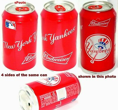 2016 Ny Yankees Baseball Budweiser Beer Can Bat Mlb Bud New York Sport Man Cave 2