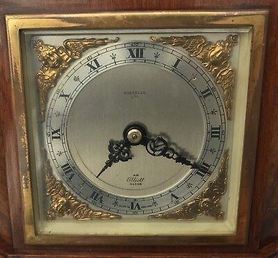 ELLIOTT LONDON Walnut & Burr Walnut Bracket Mantel Clock RUSSELLS LTD 10