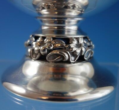 Mueck-Carey Sterling Silver Compote w/ Pcd Floral Design on Base #1115 (#2024) 3