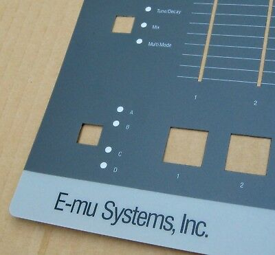 MINT and NEW! Brand New SP-1200 Replacement Faceplate Overlay for E-mu SP1200