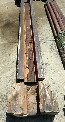 Old Thai Asian Temple Carved Timber Columns Panels Ornate Decorative Post Covers 12