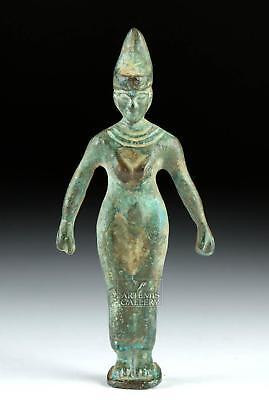 Egyptian Bronze Standing Female Figure Lot 6C