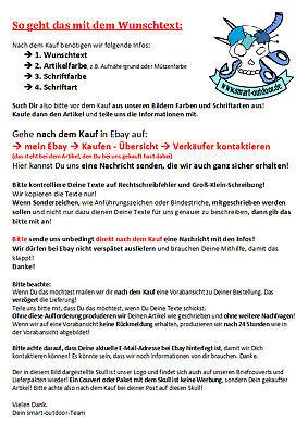 Aufnäher Patch Firma Logo Text Wunschtext mit Klett 12x4cm