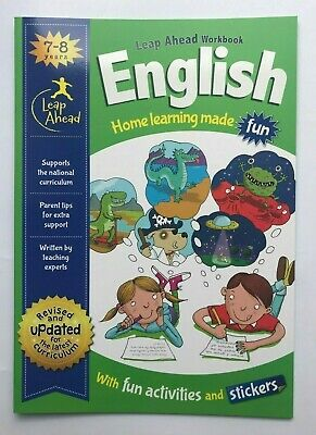 KS1 English & Maths Leapahead Home Learning Workbooks For Kids Age 7-8 years New 2