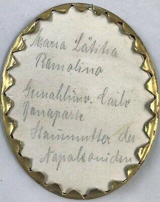 Miniatur Gemälde Brustporträt Maria Laetitia Ramolino Mutter Napoleon Resch~1780 6