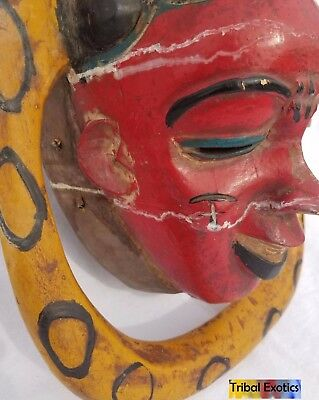 POWERFUL Polychrome Guro Baule Mask Figure Sculpture Statue Fine African Art 12