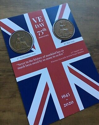 VE DAY FLAG 75th Anniversary Victory in Europe - Coins -1939 & 1945 8th May 2020 5