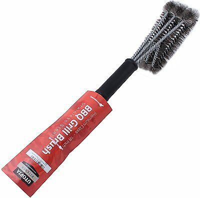 """BBQ Grill Brush Cleaner 18"""" Grilling Tool Cleaning Stainless Steel Woven Wire 8"""