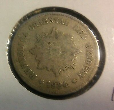 Uruguay 5 Centesimos, 1924 Coin Circulated Copper Nickel  ((315))