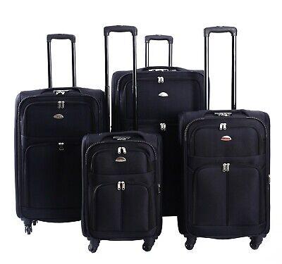 Koffer Stoff Stoffkoffer Trolleys Kofferset Reisekoffer Weichschalen M L XL XXL 4