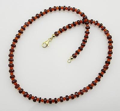 Granat Kette roter Granat mit Karneol Halskette 45 cm lang - Gemini Gemstones
