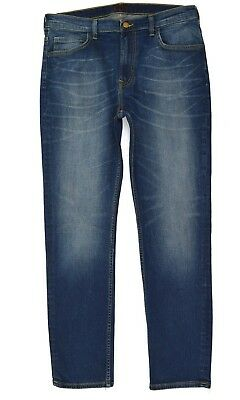 Mens Lee Rider Slim/Skinny Leg Stretch Jeans (SECONDS) 'Tinted Blue' RRP£90 L166 2