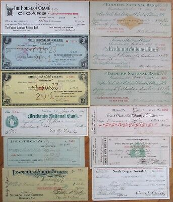 Antique Checks, 100+ DIFFERENT QUALITY- ALL Pictured, Most 1870-1910, All Issued 7