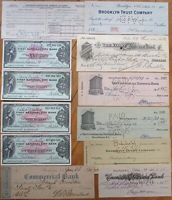Antique Checks, 100+ DIFFERENT QUALITY- ALL Pictured, Most 1870-1910, All Issued 2