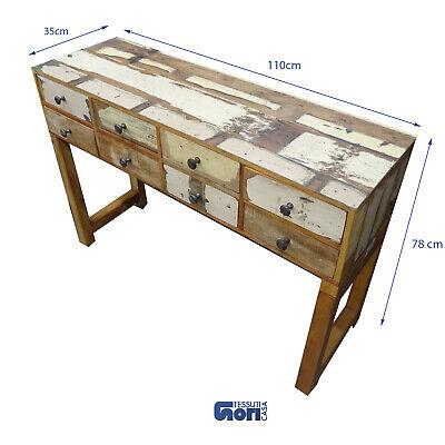 per Casa//Ingresso//Camera homcom Tavolo Consolle Bianco in Legno di Pino e MDF con 3 Cassetti e 1 Mensola 90x40x75 cm
