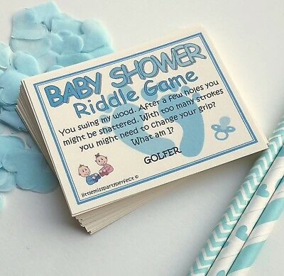 Baby Shower Boys Riddle Party Games Adult Humour 3