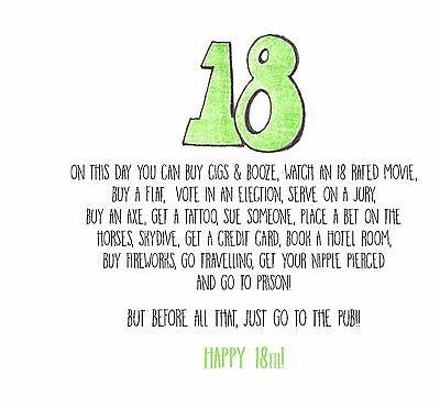 Funnyalternativebanter18th Birthday Card Son Daughter Bestie