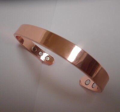 Pure Copper Magnetic Bracelet Arthritis Therapy Energy MEN WOMEN w/ BONUS Pouch