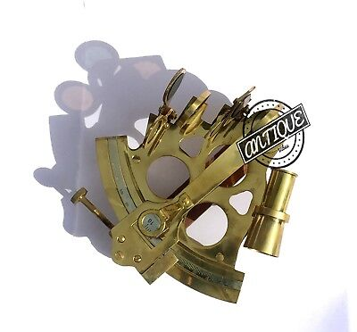 "Valentine Nautical Sextant Ship Instrument Astrolabe Marine Brass Sextant 6"" 3"