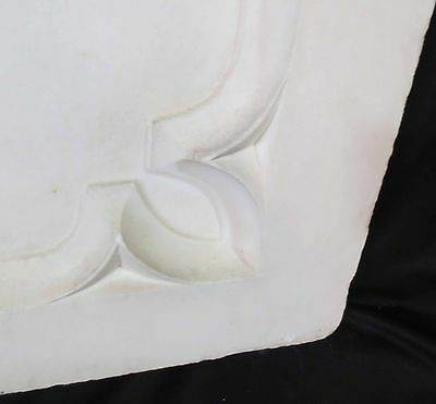 Antique Architectural Religious Italian Carved Marble Altar Angel/Cherub PANEL#2 6