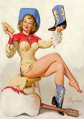 Gil Elvgren Pin-up Girls  Near Miss, Bare Facts, Jeepers Peepers poster A5 A4 A3 5