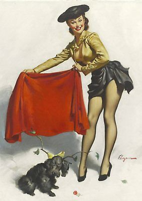 Gil Elvgren Pin-up Girls  Near Miss, Bare Facts, Jeepers Peepers poster A5 A4 A3 9