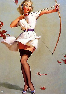 Gil Elvgren Pin-up Girls  Near Miss, Bare Facts, Jeepers Peepers poster A5 A4 A3 7