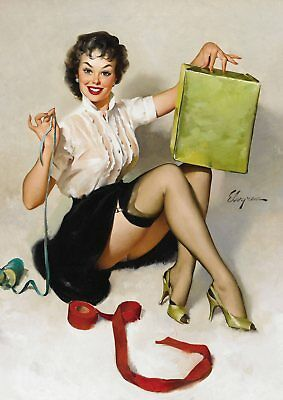 Gil Elvgren Pin-up Girls  Near Miss, Bare Facts, Jeepers Peepers poster A5 A4 A3 3