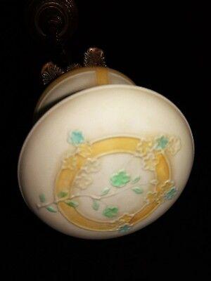 Deco Era Antique Pendant Swag Glass Shade Slip Ceiling Light Fixture Chandelier 5