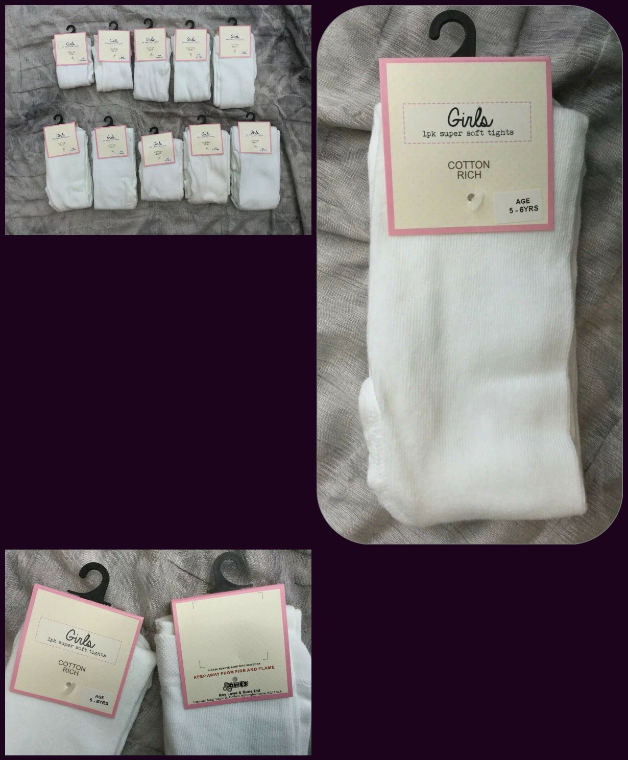COSY age 3-4 yrs Girls White Super-Soft warm Cotton rich Tights bnwt EX-STORE 6