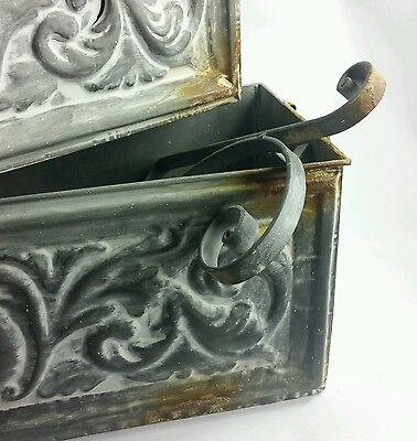 Antique Style Impressed Metal Shelves Set of 3