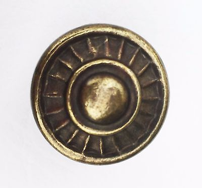 Gorgeous brass Cabinet knob antique hardware Vintage drawer pull 1 inch diameter