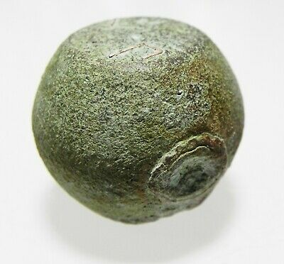 Zurqieh -As12696- Roman/Early Byzantine Silver Inlaid Bronze Weight. 400-500 A.d 3