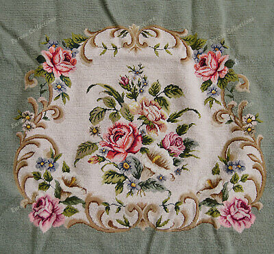 Light Olive Victorian Blooming Roses VTG Reproduction Chair Sofa Cover Sets 9