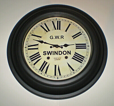 Great Western Railway, GWR Victorian Large Station Clock, Swindon Station. 2
