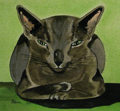 "C131         Original Acrylic Painting By Ljh         ""Scaredy Cat"" 4"