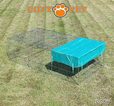 Cozy Pet Rabbit Run Play Pen Guinea Pig Dog Playpen Chicken Puppy Cage Hutch 9